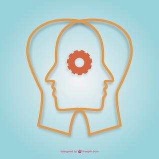 Creative minds vector design