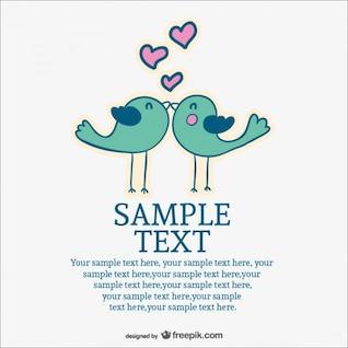 Love birds free wedding invitation