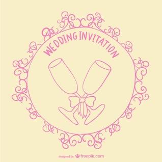 Wedding toast invitation card