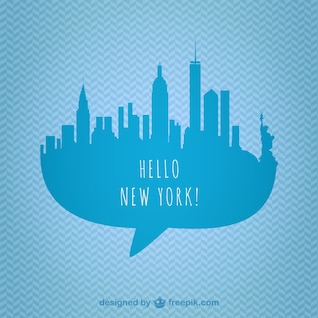 New York skyline vector graphics