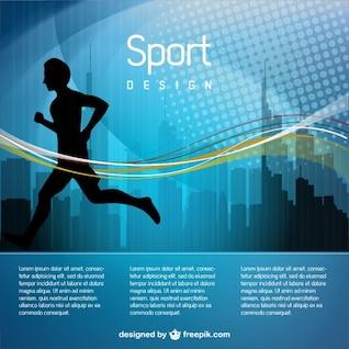 Man jogging vector illustration