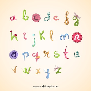 Girly vector alphabet