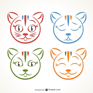 Kitty expressions vector design