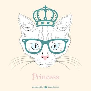 Princess cat vector