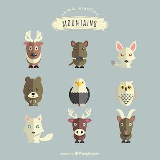 Mountains animals set
