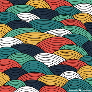 Wavy vector abstract background
