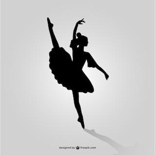 Ballet dancer silhouette vector art