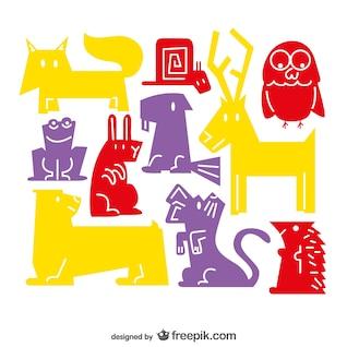 Forest animals vector art