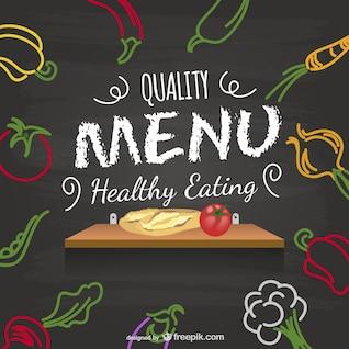 Healthy menu vector design