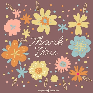 Floral wreath thank you card
