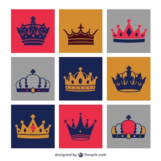 Crowns vector set free download