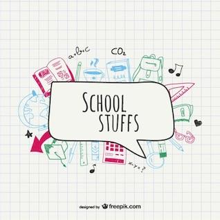 School supplies vector drawing