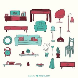 Furniture graphics set