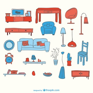 Furniture free vector elements