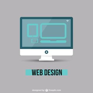 Web design minimal vector