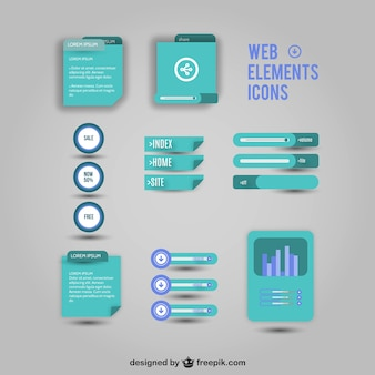 Web elements vector icons