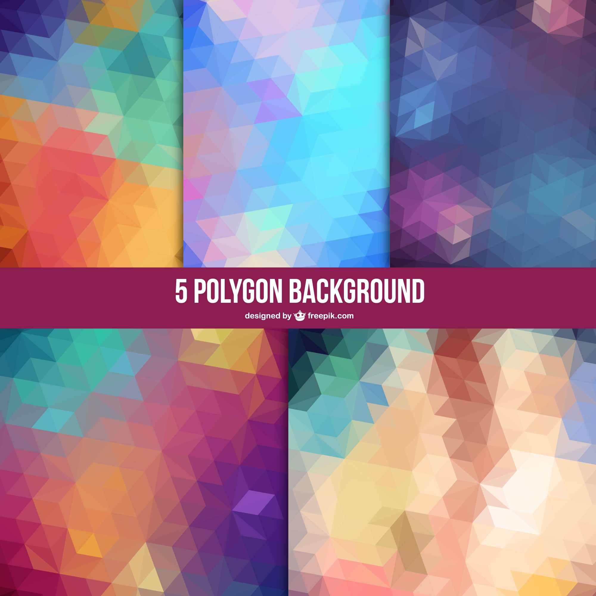 Polygon abstract vector backgrounds