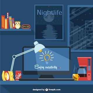 Designer's lifestyle vector illustration