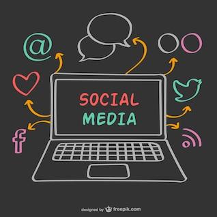 Social media vector drawing