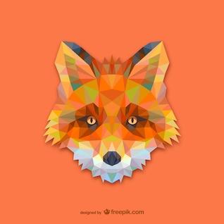 Triangle red fox design