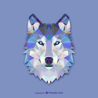 Triangle wolf design