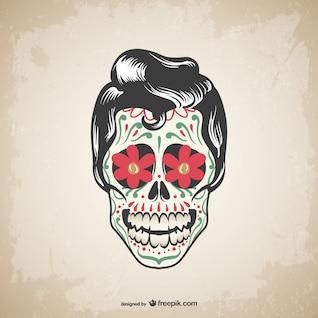 Vector skull tattoo design