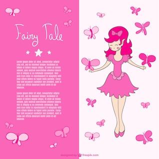 Pink butterflies fairy vector