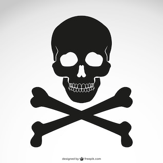 Vector crossed bones skull icon