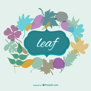 Autumn leaves vector template