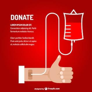 Blood transfusion vector art