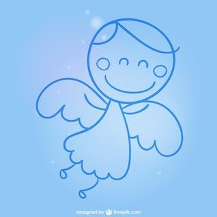 Angel cartoon free vector