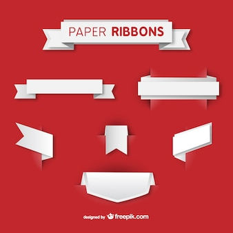 Paper ribbons vector set