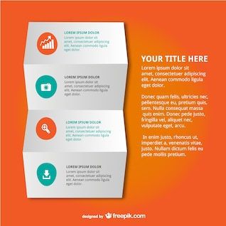Infographic folded paper design