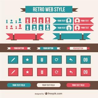 Retro web style elements