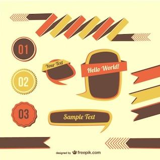 Retro graphic elements