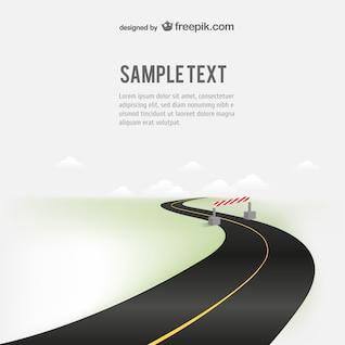 Road free vector illustration