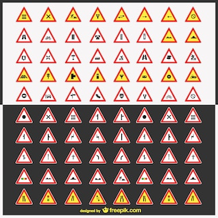 Road signs vector pack