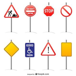 Road signs vector graphics