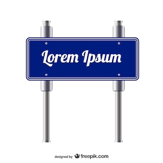 Vector sign free template