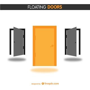 Doors free vector design