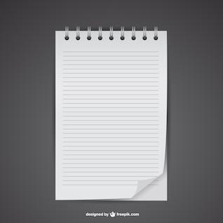 Free notebook mockup vector