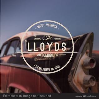 Automobiles badge retro style art