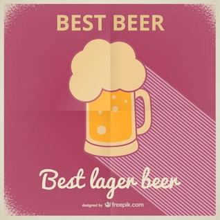 Lager beer vintage poster