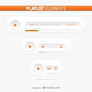 Playlist elements buttons
