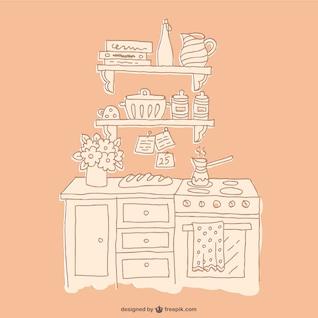 Drawing kitchen furniture