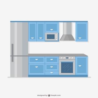 Realistic kitchen furniture