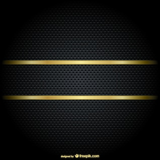 Gold border on a black background