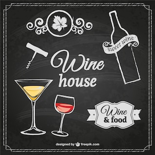 Wine house poster