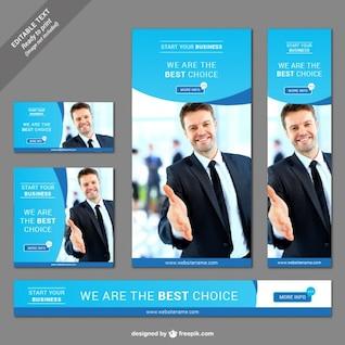 Business web banner set