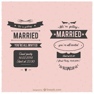 Marriage vintage labels